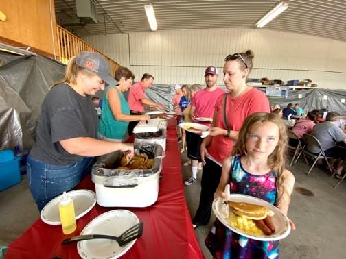 Breakfast buffet at Corn Capital Days