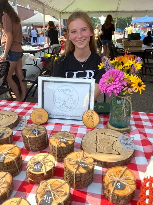 Girl at craft fair in Olivia